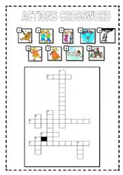 English Worksheets: Actions crossword