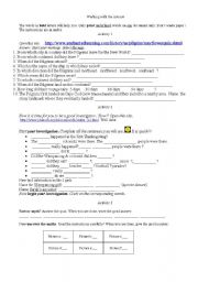 English Worksheets: The Pilgrims and the Mayflower