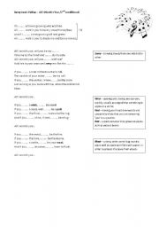English Worksheet: ALL I WANT IS YOU - SONG FOR 2ND CONDITIONAL