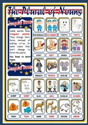 English Worksheet: THE PLURAL OF NOUNS - IRREGULAR (POSTER)