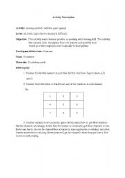 English Worksheet: miming game