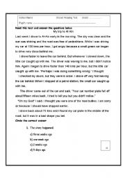 English Worksheets: Reading comprehension test with criteria
