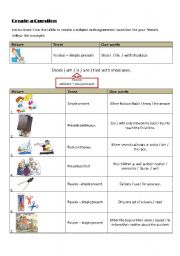 English Worksheets: Create a question