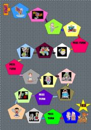 English Worksheets: actions game