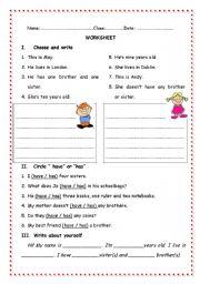 English Worksheets: Myself - easy