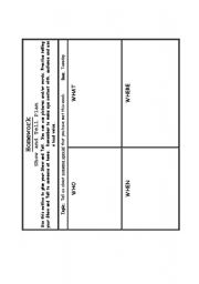 English worksheet: Show and tell planner
