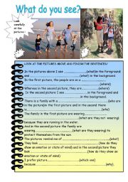 English Worksheets: What do you see?