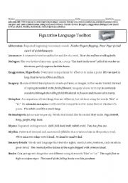 English teaching worksheets: Figurative language