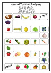 Fruit and Vegetables Board Game
