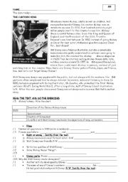English Worksheets: Walt DISNEY: Reading comprehension