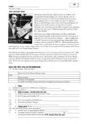 English Worksheet: Walt DISNEY: Reading comprehension