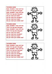 English Worksheets: body song liyric