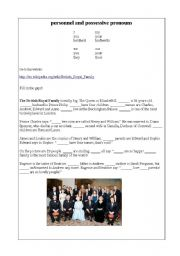 English Worksheet: Pronouns with the British Royal Family