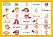 English Worksheets: Parts of the Body Boardgame
