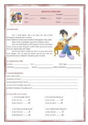 English Worksheet: 5th grade revision exercises