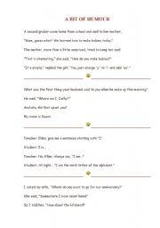 English Worksheets: humor