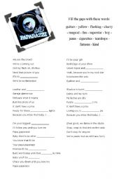 English Worksheets: Lady Gaga - Paparazzi (gap-fill)
