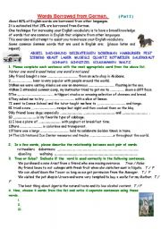 English Worksheet: Words borowed from German  2.      ## all levels ##