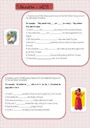 English Worksheets: Subjunctive - WISH