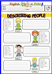 English Worksheet: Describing People