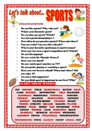 English Worksheets: LET�S TALK ABOUT SPORTS (SPEAKING SERIES 13)