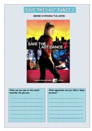 English Worksheets: Save the last dance 2 Part1