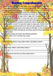 English Worksheets: Reading Comprehension Plus Grammer Test