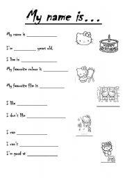 Worksheets Name Worksheets esl worksheets for beginners my name is english worksheet is