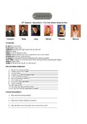 English Worksheet: Activity with one episode of TV series Friends