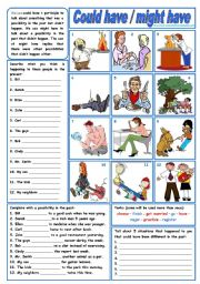 Could have / might have (grammar guide + exercises) ***fully editable