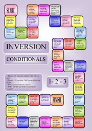 Inversion - conditionals 1-3 - boardgame (editable)