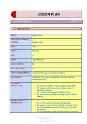 ESL kids worksheets: a sample lesson plan for teaching reading ...