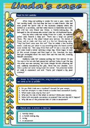 English Worksheets: Linda�s case