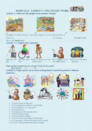 English Worksheets: voluntary work