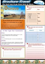 English Worksheets: WRITING A BROCHURE