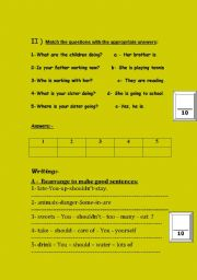 English Worksheets: Second selection of varied activities