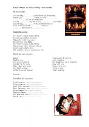 English Worksheets: Aerosmith