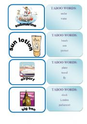 English Worksheet: TABOO WORDS GAME SET2