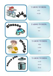 English Worksheets: TABOO WORDS GAME SET3