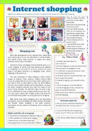 English Worksheets: Internet shopping