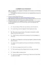 English Worksheets: Classmate: Daily Telegraph spreadsheet activity