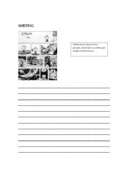 English Worksheets: calvin strips writing