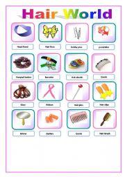 English teaching worksheets: Describing the hair