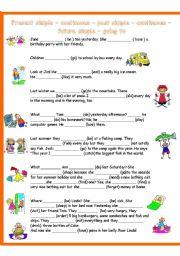 English Worksheet: Tenses revision