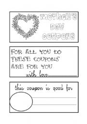 mother´s day coupon book