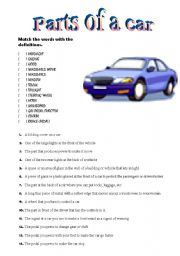 Parts of a car vocabulary practice