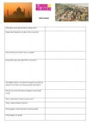 English Worksheet: Slumdog - The taj Mahal scene