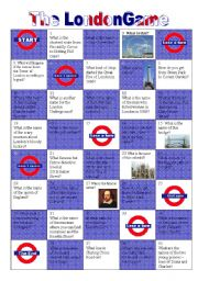 English Worksheets: THE LONDON GAME