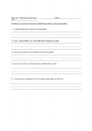 English Worksheets: How to Enter Class Bell Work for the Beginning of the Year!