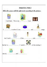 English Worksheets: Composition Worksheet ( Nada )